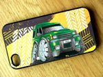 Koolart TYRE TRAX 4x4 Design For Retro Land Rover Discovery 1 or 2 Hard Case Cover Fits Apple iPhone 4 & 4s